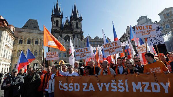 Mítink ČSSD - Sputnik Česká republika