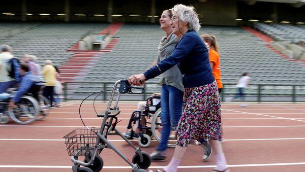 Účastníce olympiády pro seniory v Bruselu - Sputnik Česká republika