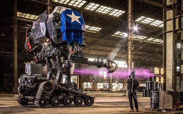 Robot Eagle Prime společnosti MegaBots na výrobu obřích řízených mechrobotů - Sputnik Česká republika