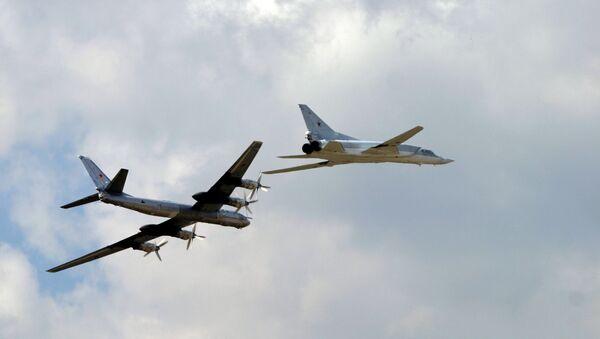 Strategické bombardéry Tu-95 a Tu-22 - Sputnik Česká republika