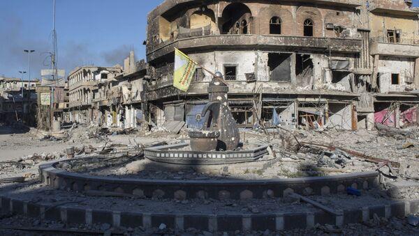 Zřícené budovy v Rakce - Sputnik Česká republika