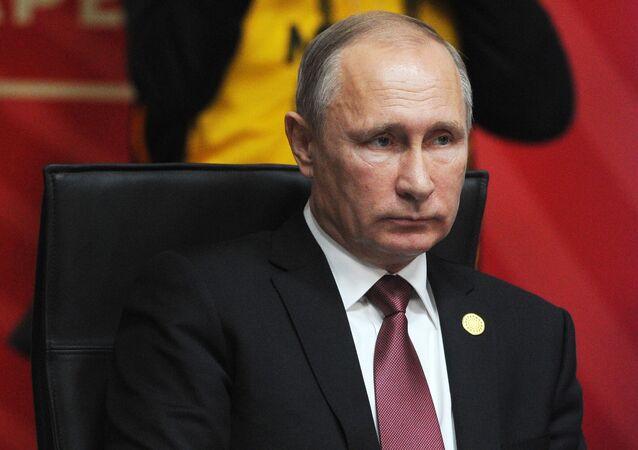 Ruský prezident Vladimir Putin během summitu APEC