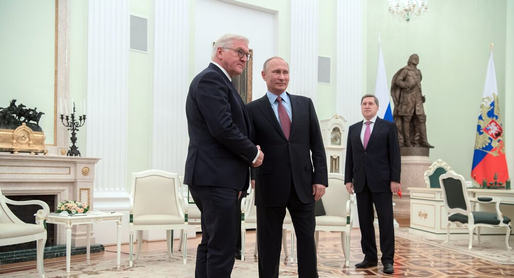 Frank-Walter Steinmeier a Vladimir Putin