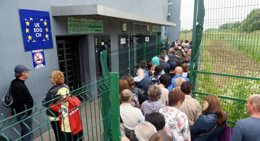 Ukrajinci na polsko-ruské hranici