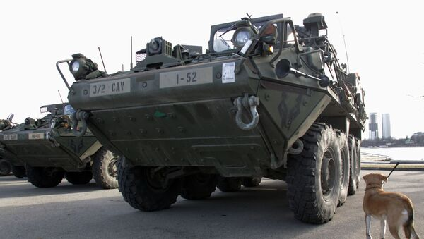 Americký obrněný transportér Stryker. Ilustrační foto - Sputnik Česká republika