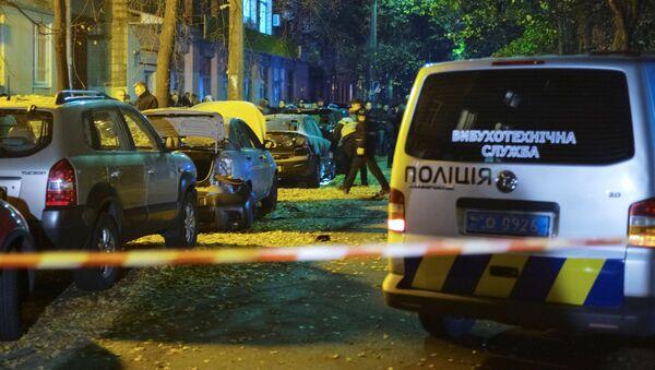 Na místě exploze v Kyjevě - Sputnik Česká republika