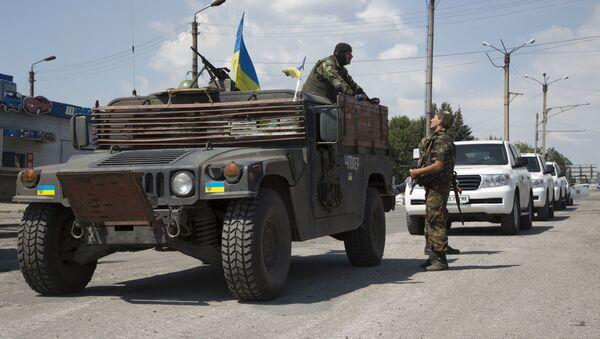 Vojenské auto ukrajinské armády - Sputnik Česká republika