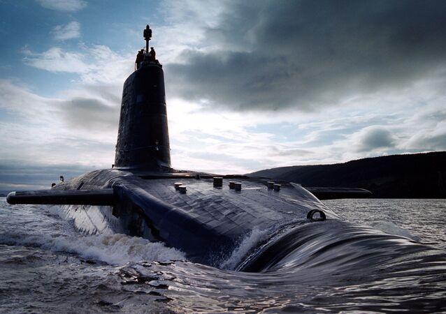 Britská jaderná ponorka HMS Victorious třídy Vanguard