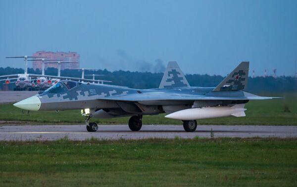 Ruský stíhací letoun páté generace Su-57 - Sputnik Česká republika