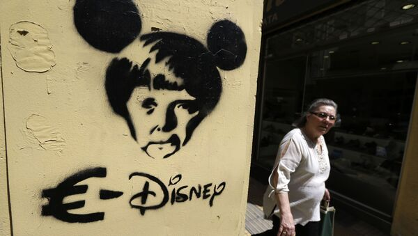 Smrt eura. Problém řeckého dluhu očima pouličních umělců - Sputnik Česká republika