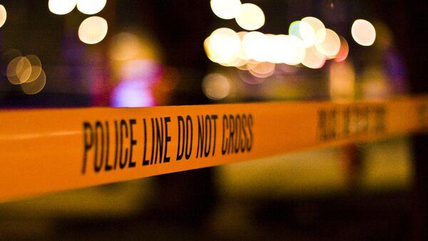 Police tape at the crime scene. - Sputnik Česká republika