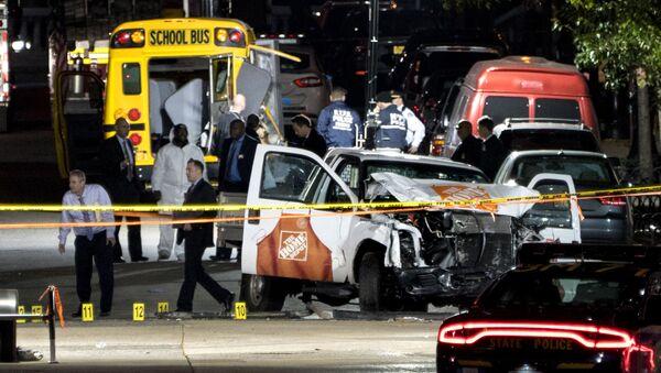 Místo teroristického útoku v New Yorku - Sputnik Česká republika