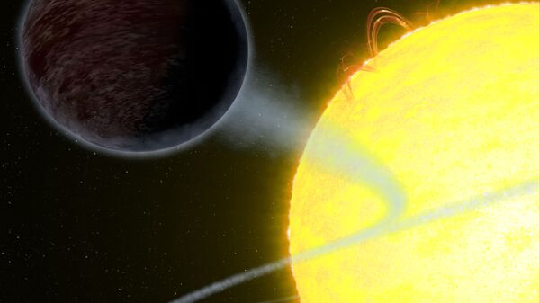 Černý plynový obr exoplaneta WASP-12b - Sputnik Česká republika