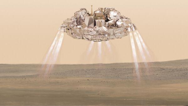 Přistání aparátu na Marsu. Ilustrační foto - Sputnik Česká republika