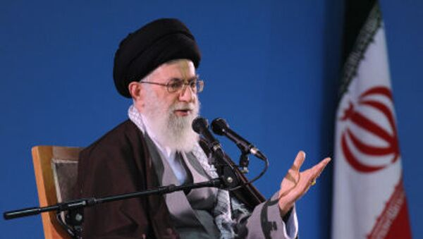 Íránský duchovní vůdce ájatolláh Sajjid Alí Chameneí - Sputnik Česká republika