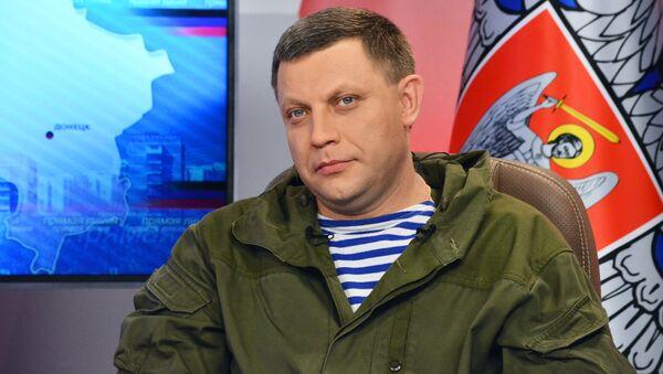 Lídr samozvané Doněcké lidové republiky (DLR) Alexandr Zacharčenko - Sputnik Česká republika