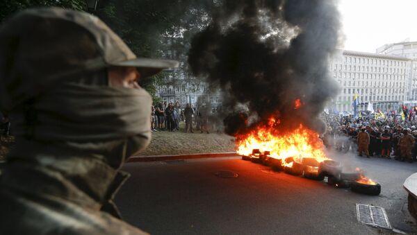 Mítink nacionalistů v Kyjevě. Ilustrační foto - Sputnik Česká republika