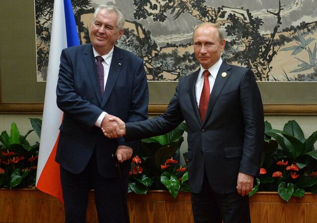 Český prezident Miloš Zeman a ruský prezident Vladimir Putin