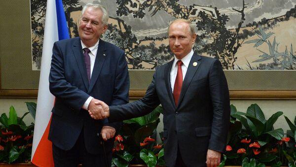 Český prezident Miloš Zeman a ruský prezident Vladimir Putin - Sputnik Česká republika
