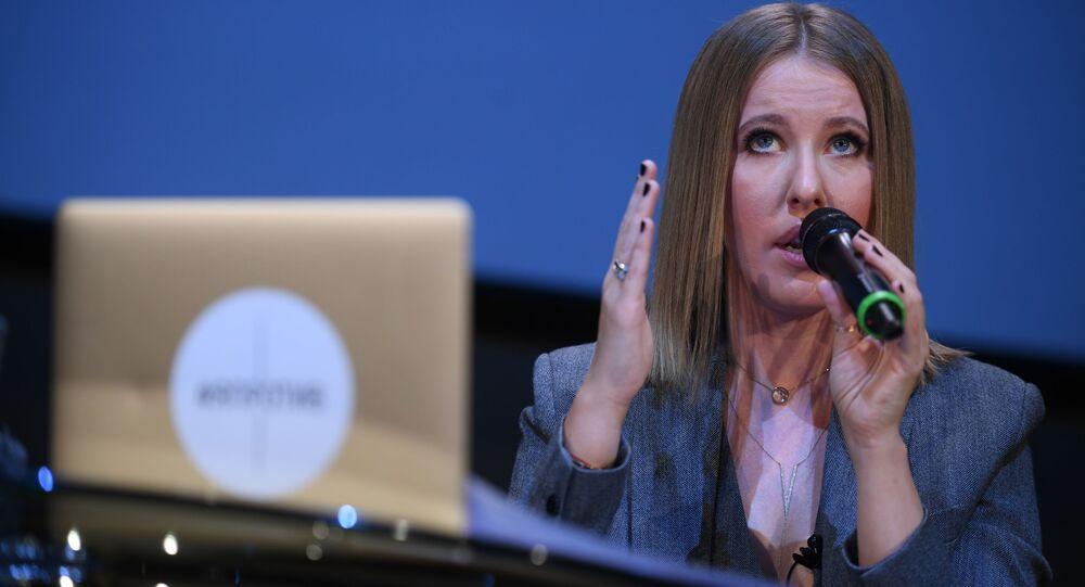 Televizní moderátorka Xénie Sobčaková