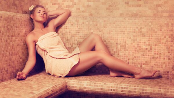 Žena v sauně - Sputnik Česká republika