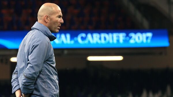 Hlavní trenér madridského Reálu Zinedine Zidane - Sputnik Česká republika