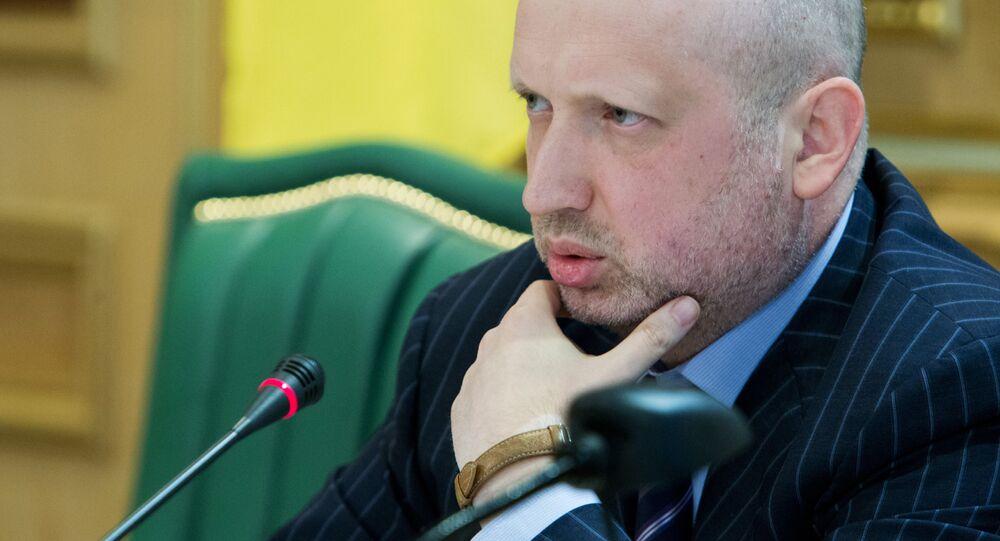 Předseda Národní rady bezpečnosti a obrany Ukrajiny Olexandr Turčynov