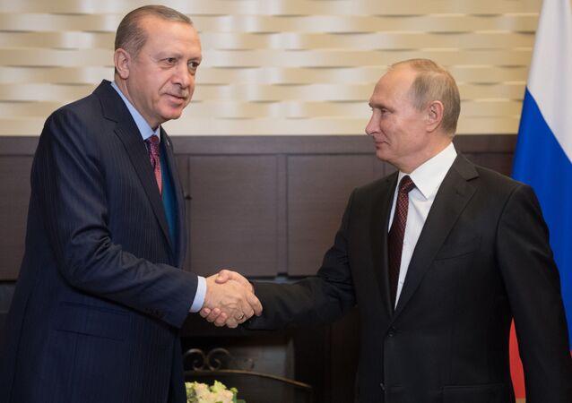 Recep Erdogan a Vladimir Putin.