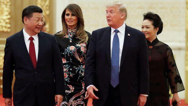 Si Ťin-pching, Donald Trump a jejich manželky - Sputnik Česká republika