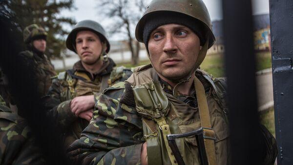 Ukrajinští vojáci na základně - Sputnik Česká republika