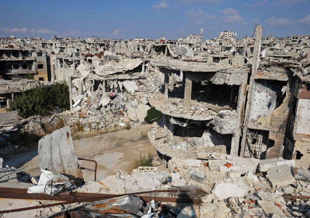 Trosky v syrském městě Homs. Ilustrační foto.