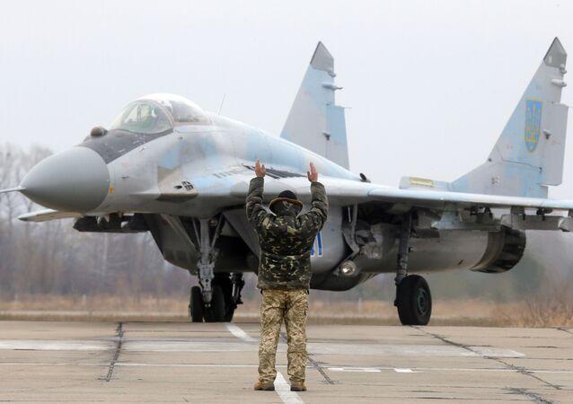 Ukrajinská stíhačka MiG-29