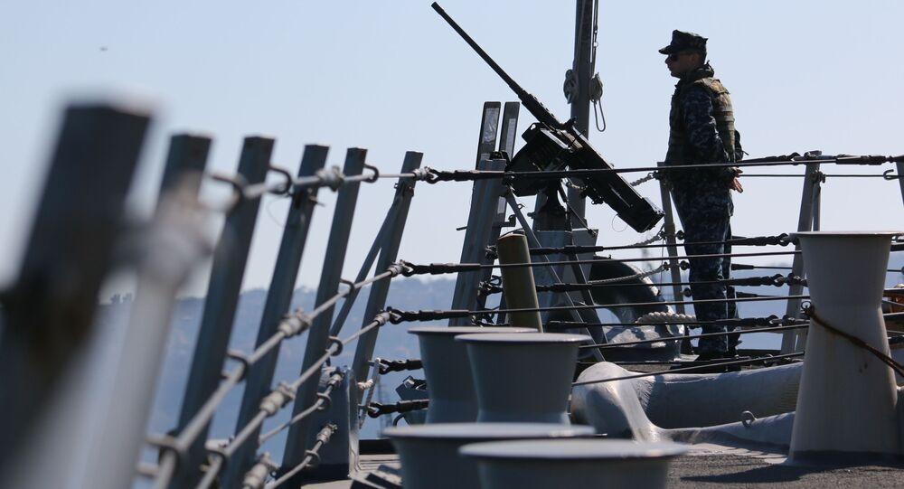 Americký námořník. Cvičení