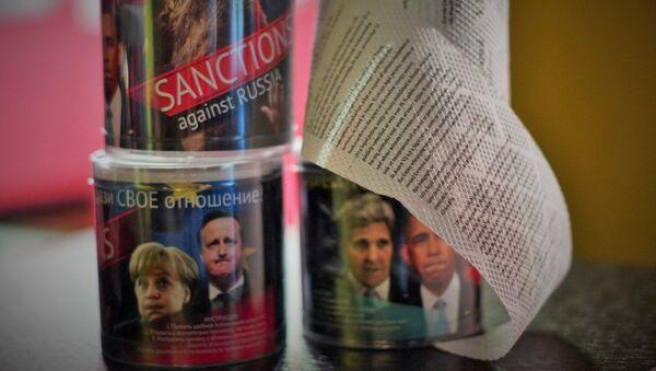 Toaletní papír s textem sankcí - Sputnik Česká republika