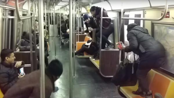 Krysa ve vagónu newyorského metra vyvolala paniku mezi cestujícími - Sputnik Česká republika