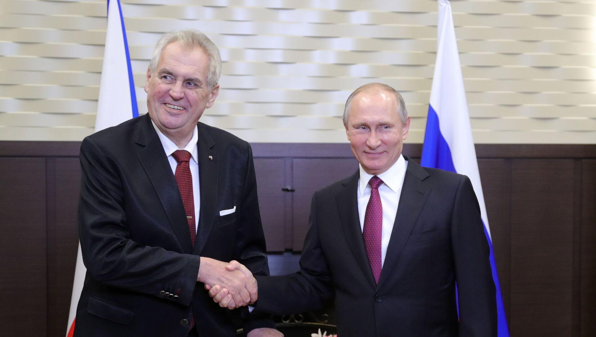 Schůzka ruského prezidenta Vladimira Putina s českým prezidentem Milošem Zemanem  - Sputnik Česká republika, 1920, 27.02.2021