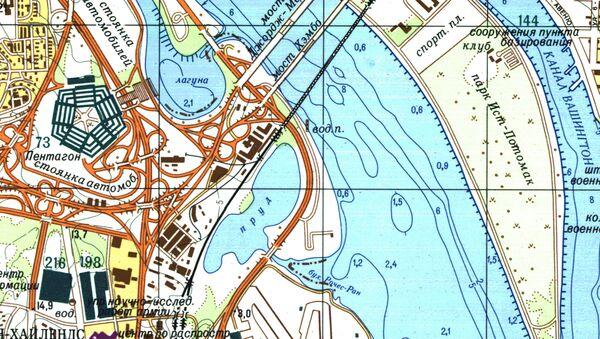 Část velice přesné sovětské mapy Washingtonu - Sputnik Česká republika