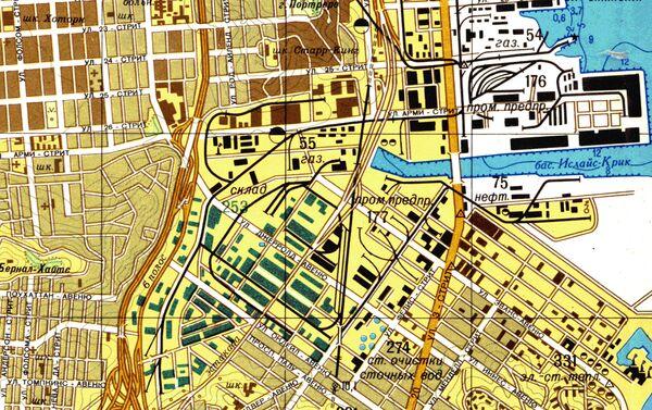 Část velice přesné sovětské mapy San Francisca - Sputnik Česká republika