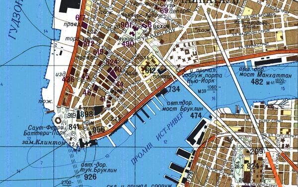 Část velice přesné sovětské mapy New Yorku - Sputnik Česká republika