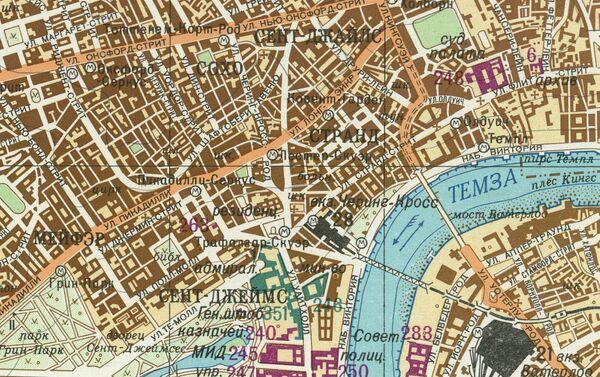 Část velice přesné sovětské mapy Londýna - Sputnik Česká republika