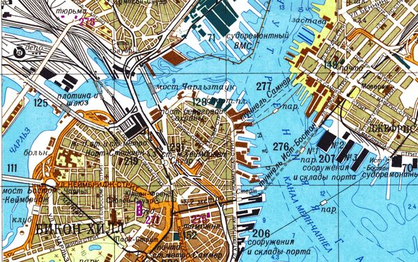 Část velice přesné sovětské mapy Bostonu - Sputnik Česká republika