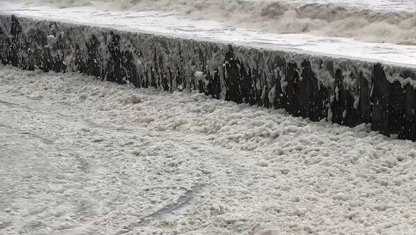 Mořská pěna obsadila pobřeží - Sputnik Česká republika