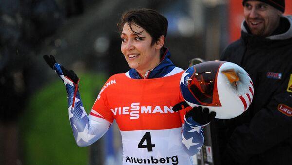 Americká sportovkyně Katie Uhlaenderová - Sputnik Česká republika