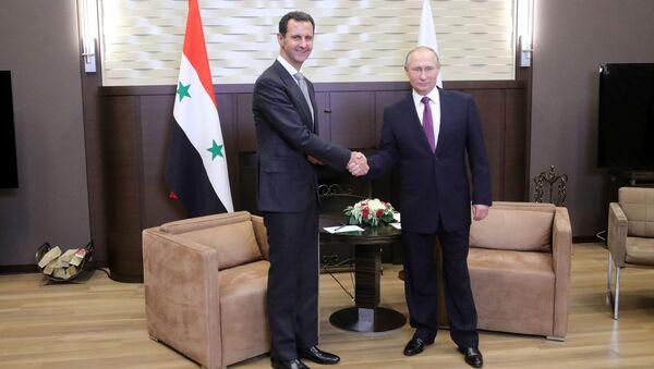 Bašár Asad a Vladimir Putin - Sputnik Česká republika