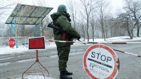 Kontrolní stanoviště na okraji Gorlovky - Sputnik Česká republika