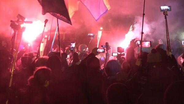 Pochod s loučemi v Kyjevě - Sputnik Česká republika