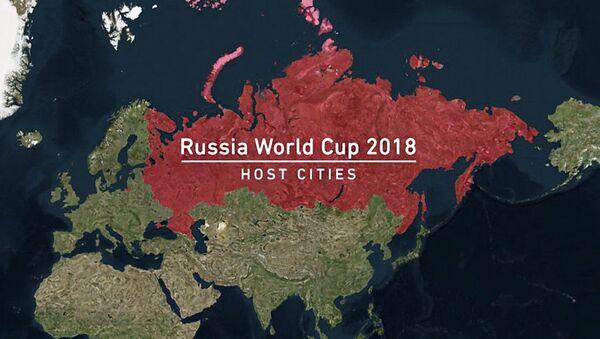 Šot k Mistrovství světa ve fotbale 2018, ve kterém byl Krym zveřejněn jako součást Ruska - Sputnik Česká republika