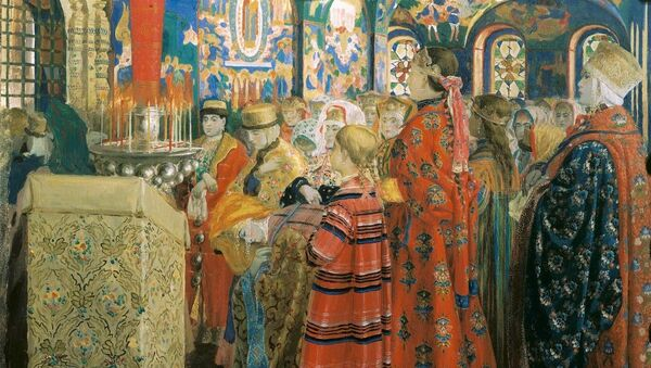 Obraz od Andreje Rjabuškina Rusky XVII. století v kostelu - Sputnik Česká republika