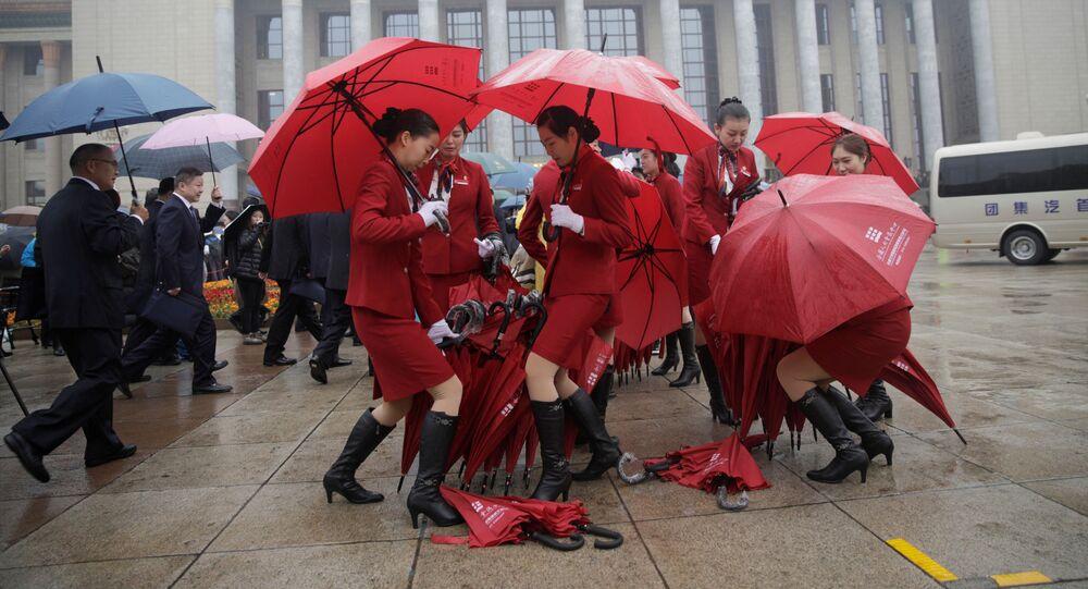 Před zahájením 19. sjezdu Komunistické strany Číny