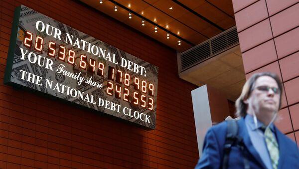 Počítadlo amerického dluhu v New Yorku - Sputnik Česká republika
